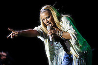 The American  Singer Anastascia performs in Naples. August 28, 2015