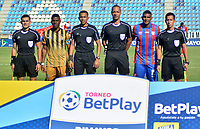 SANTA MARTA-COLOMBIA, 09-02-2020: Unión Magdalena y Tigres F. C, durante partido por la fecha 2 del Torneo BetPlay DIMAYOR I 2020 en el estadio Sierra Nevada de la ciudad de Santa Marta. / Unión Magdalena and Tigres F. C,  during a match for the 2nd date of the BetPlay DIMAYOR I 2020 tournament at the Sierra Nevada stadium in Santa Marta city. / Photos: VizzorImage / Gustavo Pacheco / Cont.