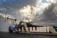 Jan. 18, 2012; Jupiter, FL, USA: NHRA top fuel dragster driver Tony Schumacher during testing at the PRO Winter Warmup at Palm Beach International Raceway. Mandatory Credit: Mark J. Rebilas-