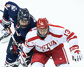 Spencer Naas (UConn - 8), Nikolas Olsson (BU - 13) - The Boston University Terriers defeated the visiting University of Connecticut Huskies 4-2 (EN) on Saturday, October 24, 2015, at Agganis Arena in Boston, Massachusetts.