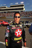 May 2, 2008; Richmond, VA, USA; NASCAR Sprint Cup Series driver Juan Pablo Montoya during qualifying for the Dan Lowry 400 at the Richmond International Raceway. Mandatory Credit: Mark J. Rebilas-US PRESSWIRE