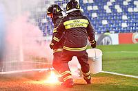 Fire fighters. Pompieri  <br /> Reggio Emilia 22-02-2018 Stadio del Tricolore Football Calcio Europa League 2017/2018 round of 32 Atalanta - Borussia Dortmund Foto Andrea Staccioli / Insidefoto