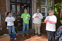 Group including Craig Sheppard, James Suitor and Christine Higgins, three to the right in photo - Wellpoint Community Service Day | New Haven CT
