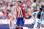 Atletico de Madrid's Antoine Griezmann (l) and Malaga CF's Ignacio Camacho during La Liga match. April 23,2016. (ALTERPHOTOS/Acero)