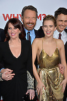 Actors Megan Mullally, Bryan Cranston, Zoey Deutch &amp; James Franco at the world premiere of &quot;Why Him?&quot; at the Regency Bruin Theatre, Westwood. December 17, 2016<br /> Picture: Paul Smith/Featureflash/SilverHub 0208 004 5359/ 07711 972644 Editors@silverhubmedia.com