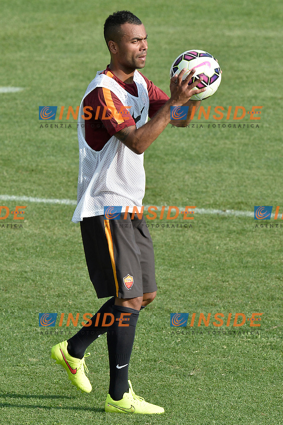 Ashley Cole.<br /> Allenamento AS Roma. Football training.<br /> Roma 16-07-2014 Trigoria. Football Calcio 2014/2015 Serie A. AS Roma. Foto Antonietta Baldassarre / Insidefoto