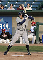 April 21, 2004:  Drew Anderson of the Beloit Snappers, low-A affiliate of the Milwaukee Brewers, during a game at Oldsmobile Park in Lansing, MI.  Photo by:  Mike Janes/Four Seam Images