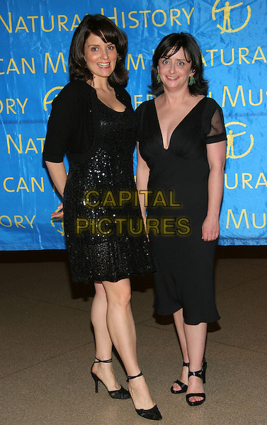TINA FEY & RACHEL DRATCH.American Museum of Natural History Annual Gala Benefit, New York, NY..November 16th, 2005.Photo: Jackson Lee/Admedia/Capital Pictures.Ref: JL/ADM.full length black sequin dress .www.capitalpictures.com.sales@capitalpictures.com.© Capital Pictures.