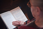 Reading during the Christmas Liturgy Service, St. Sava Serbian Orthodox Church, Jackson, Calif.