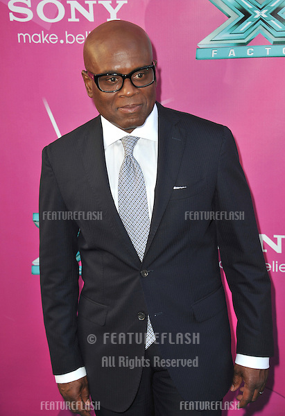 "L.A. Reid at the season two premiere of ""X Factor USA"". He and the other judges had their handprints set in cement at Grauman's Chinese Theatre, Hollywood..September 11, 2012  Los Angeles, CA.Picture: Paul Smith / Featureflash"
