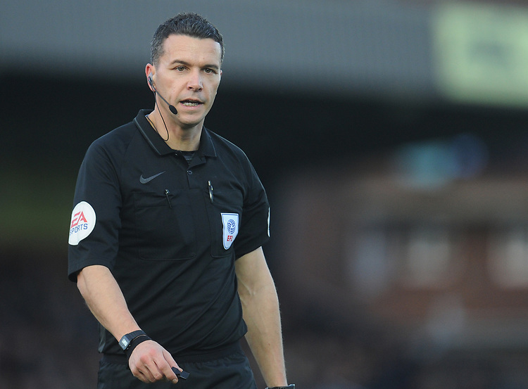 Referee Dean Whitestone<br /> <br /> Photographer Kevin Barnes/CameraSport<br /> <br /> The EFL Sky Bet League One - AFC Wimbledon v Blackpool - Saturday 29th December 2018 - Kingsmeadow Stadium - London<br /> <br /> World Copyright © 2018 CameraSport. All rights reserved. 43 Linden Ave. Countesthorpe. Leicester. England. LE8 5PG - Tel: +44 (0) 116 277 4147 - admin@camerasport.com - www.camerasport.com
