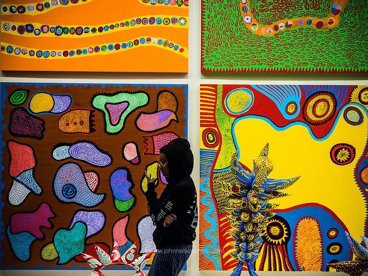 Yayoi Kusama exhibit at the Hirshhorn Museum in Washington, DC 25 February 2017.