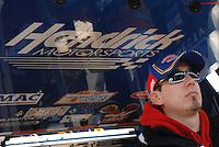 Mar 31, 2007; Martinsville, VA, USA; Nascar Nextel Cup Series driver Kyle Busch (5) during practice for the Goody's Cool Orange 500 at Martinsville Speedway. Martinsville marks the second race for the new car of tomorrow. Mandatory Credit: Mark J. Rebilas..