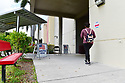 MIRAMAR, FL - MARCH 17: Florida voters leaving the precinct at Broward County, Florida after cast ingtheir ballots on March 17, 2020 in Miramar, Florida. People are heading to the polls to vote for their Republican and Democratic choice in their parties' respective primaries during the COVID-19 outbreak where United States death toll from the virus passed 100. black voters carried Joe Biden to his projected Florida win during Super Tuesday on March 17, 2020 in Miramar, Florida.  ( Photo by Johnny Louis / jlnphotography.com )