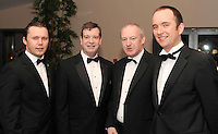 David Hanahoe, John Hennessy-Niland, American Embassy, Mark Holohan and Fran McFadden, Bord Gais, at the Irish Hotels Federation Conference Gala Dinner in The Malton Hotel, Killarney on Tuesday night. Picture: MacMonagle, Killarney
