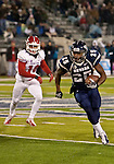 November 10, 2012: Nevada Wolf Pack running back Stephon Jefferson runs against the Fresno State Bulldogs during their NCAA football game played at Mackay Stadium on Saturday night in Reno, Nevada.