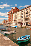 Palazzo Gopcevich, built between 1847 and 1850, now the Civic Theater Museum on Canal Grande in Trieste, Italy