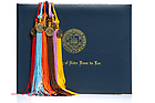 Mar. 11, 2019; Degree holder and graduation tassels (Photo by Matt Cashore/University of Notre Dame)