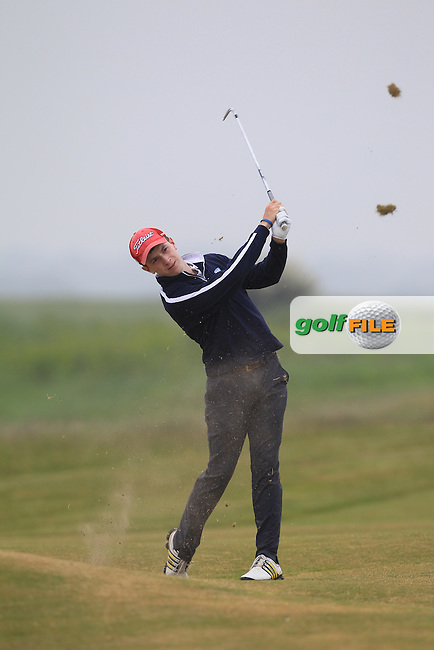 Ted Collins (Dun Laoghaire) on the 1st during Round 2 of the East of Ireland Amateur Open Championship sponsored by City North Hotel at Co. Louth Golf club in Baltray on Sunday 5th June 2016.<br /> Photo by: Golffile | Thos Caffrey