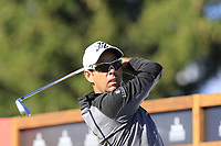 Jaco Van Zyl (RSA) tees off the 16th tee during Saturday's Round 3 of the 2018 Omega European Masters, held at the Golf Club Crans-Sur-Sierre, Crans Montana, Switzerland. 8th September 2018.<br /> Picture: Eoin Clarke | Golffile<br /> <br /> <br /> All photos usage must carry mandatory copyright credit (&copy; Golffile | Eoin Clarke)