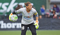 Portland, OR - Saturday July 09, 2016: Nicole Barnhart during a regular season National Women's Soccer League (NWSL) match between the Portland Thorns FC and FC Kansas City at Providence Park.