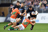 Elliott Stooke of Bath Rugby takes on the Benetton Rugby defence. European Rugby Champions Cup match, between Bath Rugby and Benetton Rugby on October 14, 2017 at the Recreation Ground in Bath, England. Photo by: Patrick Khachfe / Onside Images