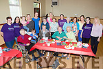 Kerry Rose Danielle O'Sullivan and Julette Culloty the 2015 Kerry Rose with the volunteers and visitors to the Alzeimers Society of Ireland tea party in the Kilcummin hall on Saturday