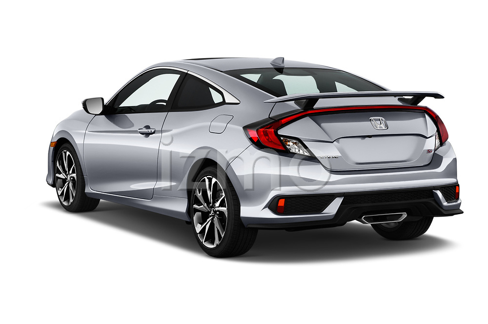 Car pictures of rear three quarter view of a 2017 Honda Civic Si 2 Door Coupe angular rear