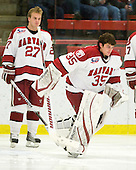 Ryan Carroll (Harvard - 35) is announced as the starter for the Crimson. - The visiting Cornell University Big Red defeated the Harvard University Crimson 2-1 on Saturday, January 29, 2011, at Bright Hockey Center in Cambridge, Massachusetts.