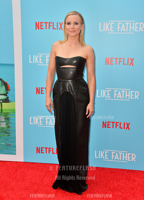 "Kristen Bell at the Los Angeles premiere of ""Like Father"" at the Arclight Theatre, Los Angeles, USA 31 July 2018<br /> Picture: Paul Smith/Featureflash/SilverHub 0208 004 5359 sales@silverhubmedia.com"