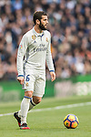 José Ignacio Fernández Iglesias, Nacho, of Real Madrid in action during their La Liga 2016-17 match between Real Madrid and Malaga CF at the Estadio Santiago Bernabéu on 21 January 2017 in Madrid, Spain. Photo by Diego Gonzalez Souto / Power Sport Images