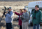 One of the tour bus groups at the IVGID wetlands during the Eagles & Agriculture event on Friday, Jan. 26, 2018 in the Carson Valley.