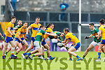 Diarmuid O'Connor Kerry in action against Cathal O'Connor Clare during the Munster Senior Football Semi Final between Kerry and Clare at Ennis on Saturday night.