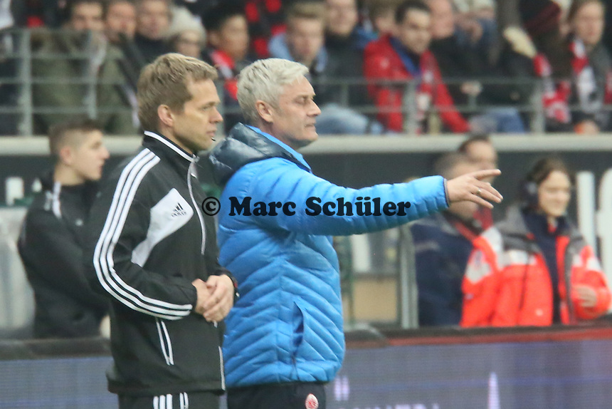 Trainer Armin Veh (Eintracht) - Eintracht Franfurt vs. Borussia Mönchengladbach, Commerzbank Arena
