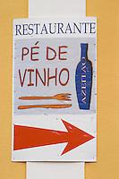 Restaurant Pe de Vinho. Azeitao, Portugal.