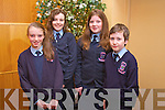 Jessica Murphy, Sive Stack, Mairead Carney and Rory Dalton from Ardfert NS at the Tralee Credit Union Primary Schools Quiz, held at Ballyroe Heights Hotel on Sunday