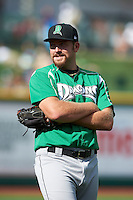 Dayton Dragons pitcher Lucas O'Rear #35 during a Midwest League game against the Fort Wayne TinCaps at Parkview Field on August 19, 2012 in Fort Wayne, Indiana.  Dayton defeated Fort Wayne 5-1.  (Mike Janes/Four Seam Images)
