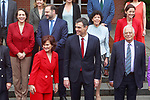Magdalena Valerio, Minister of Work; Jose Luis Abalos, Minister of Fomento; Isabel Celaa, Minister of Education, Professional Training and Spokesperson; Reyes Maroto, Minister of Industry; Carmen Calvo, Vice President and Minister of Equality and of the Presidency; President Pedro Sanchez and Josep Borrell, Minister of Foreign, EU and Cooperation after the first Council of Ministers of the new Government of Spain. June 8,2018. (ALTERPHOTOS/Acero)