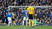 2nd February 2019, Goodison Park, Liverpool, England; EPL Premier League Football, Everton versus Wolverhampton Wanderers;  Ruben Neves of Wolverhampton Wanderers scores his side's first goal with a penalty after 7 minutes to make the score 1-0