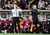 Burnley manager Sean Dyche shouts instructions to his team from the technical area<br /> <br /> Photographer Rich Linley/CameraSport<br /> <br /> The Premier League - Burnley v Everton - Saturday 5th October 2019 - Turf Moor - Burnley<br /> <br /> World Copyright © 2019 CameraSport. All rights reserved. 43 Linden Ave. Countesthorpe. Leicester. England. LE8 5PG - Tel: +44 (0) 116 277 4147 - admin@camerasport.com - www.camerasport.com
