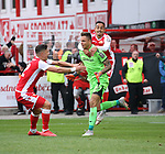 07.10.2018, Stadion an der Wuhlheide, Berlin, GER, 2.FBL, 1.FC UNION BERLIN  VS. 1.FC Heidenheim, <br /> DFL  regulations prohibit any use of photographs as image sequences and/or quasi-video<br /> im Bild 1: 1 durch Rafael Gikiewicz (1.FC Union Berlin #1)<br /> Robert Zulj (1.FC Union Berlin #32), Kenny Prince Redondo (1.FC Union Berlin #18)<br /> <br />      <br /> Foto &copy; nordphoto / Engler