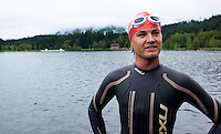 14 AUG 2010 - KITZBUEHEL, AUT - Formula 1 racing driver Nico Rosberg waits for the start of his wave of the Jedermann Triathlon (PHOTO (C) NIGEL FARROW)