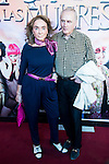 """Paloma Segrelles and her husband during the red carpet of the theater play """"La Asamblea de las Mujeres"""" at Teatro La Latina in Madrid. August 25. 2016. (ALTERPHOTOS/Borja B.Hojas)"""