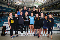 Junior World Champs squad. Swimming New Zealand National Short Course Championships, National Aquatic Centre, New Zealand, Saturday 6th October 2018. Photo: Simon Watts/www.bwmedia.co.nz