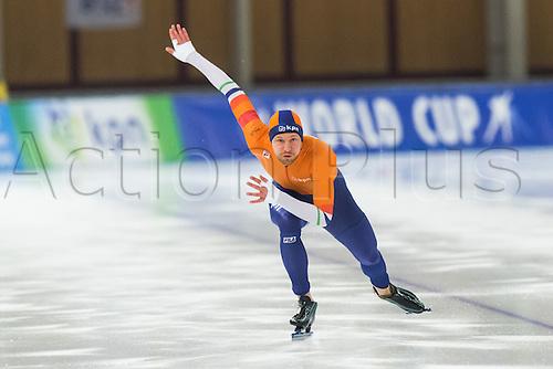 January 29th 2017, Sportforum, Berlin, Germany; ISU Speed Skating World Cup;  ISU Speed Skating World Cup  1000m Division B;  Michel Mulder (NED)