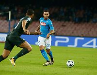 Faouzi Ghoulam  during the Champions League Group  soccer match between SSC Napoli - Manchester City   at the Stadio San Paolo in Naples 01 nov 2017
