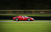 10th September 2017, Goodwood Estate, Chichester, England; Goodwood Revival Race Meeting; A Ford GT40 Races along the Goodwood back straight