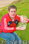 Patrick O'Regan,  from Ballyduff pictured with his player of the year award and  all Ireland Medal..   Copyright Kerry's Eye 2008