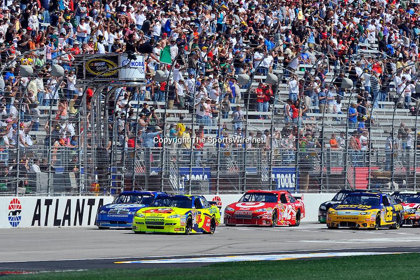 Mar 08, 2009; 1:19:53 PM; Hampton, GA, USA; NASCAR Sprint Cup Series race for the Kobalt Tools 500 at the Atlanta Motor Speedway.  Mandatory Credit: (thesportswire.net)