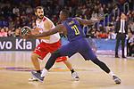 League ACB-ENDESA 2017/2018 - Game: 20.<br /> FC Barcelona Lassa vs Retabet Bilbao Basket: 90-58.<br /> Shane Hammink vs Rakim Sanders.